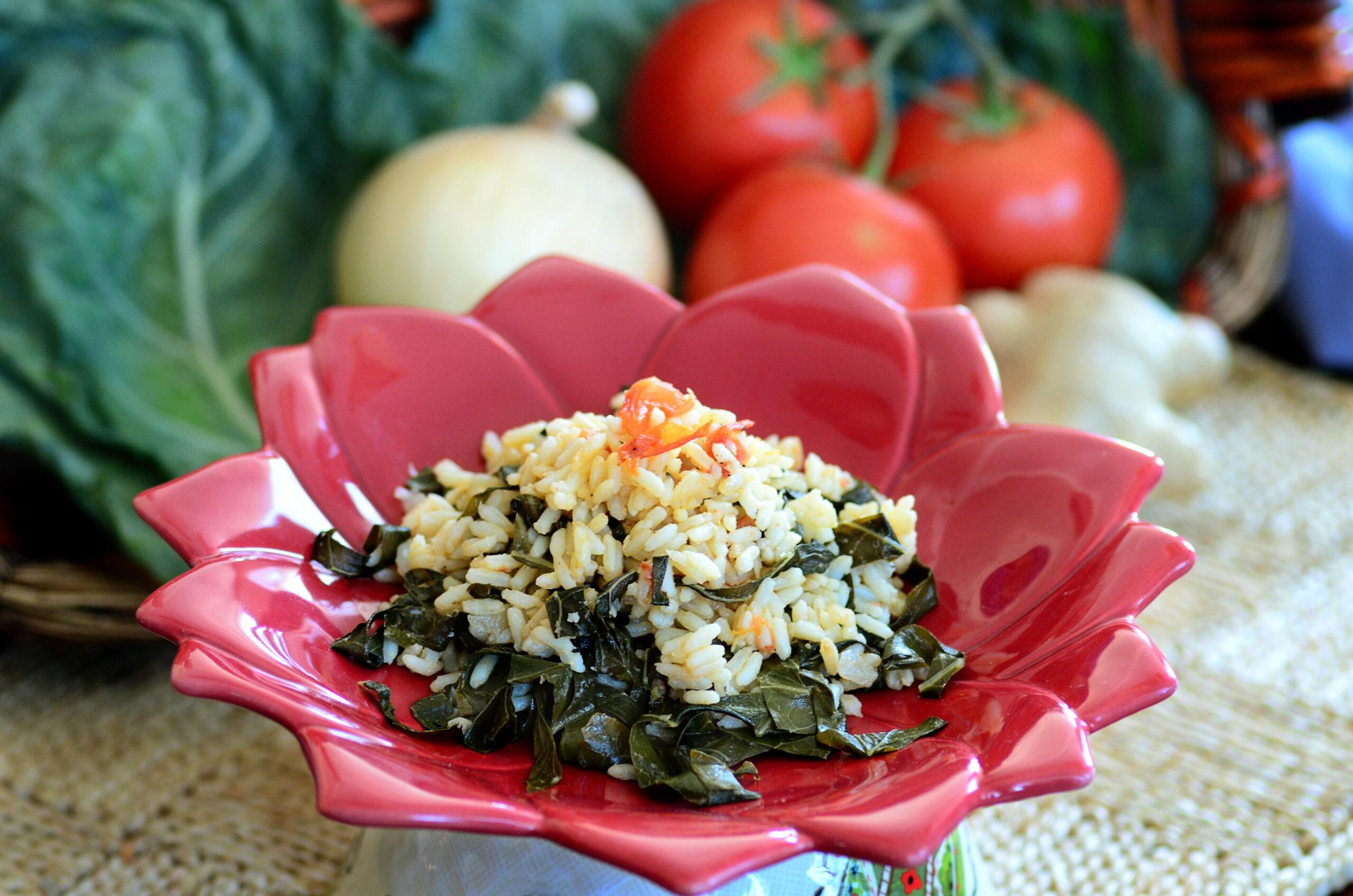 Vary Amin'Anana (Greens with Rice)